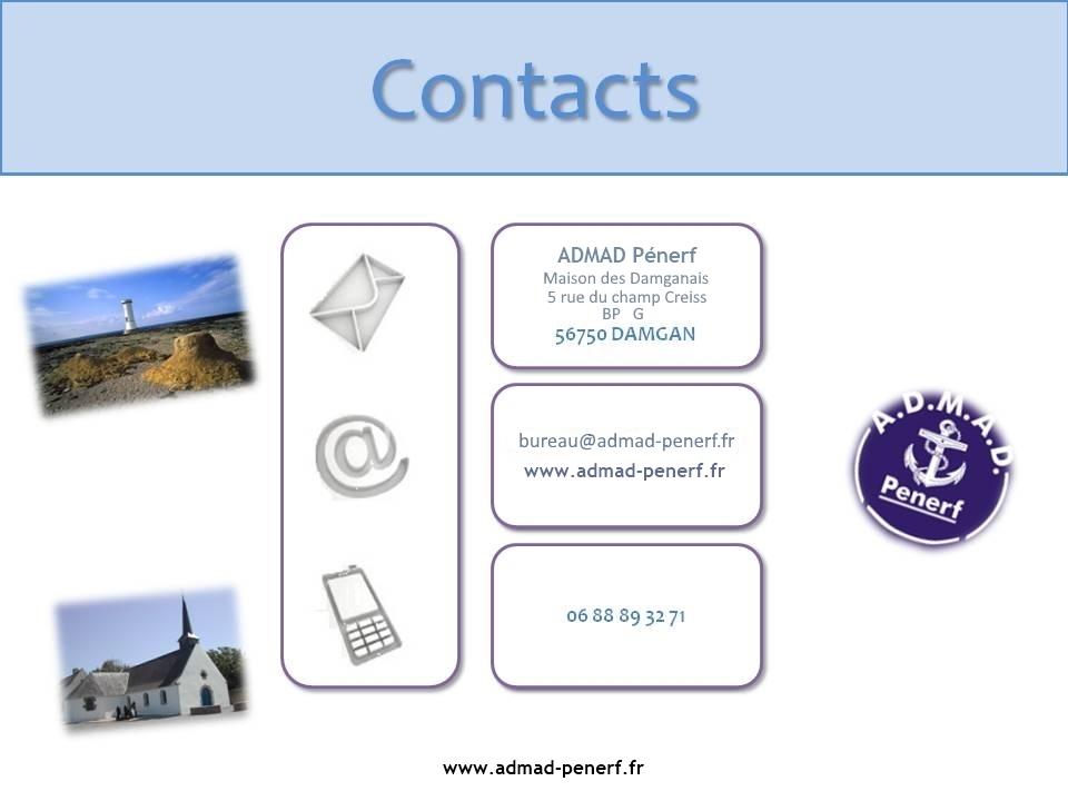 Pour contacter l'ADMAD-Pénerf