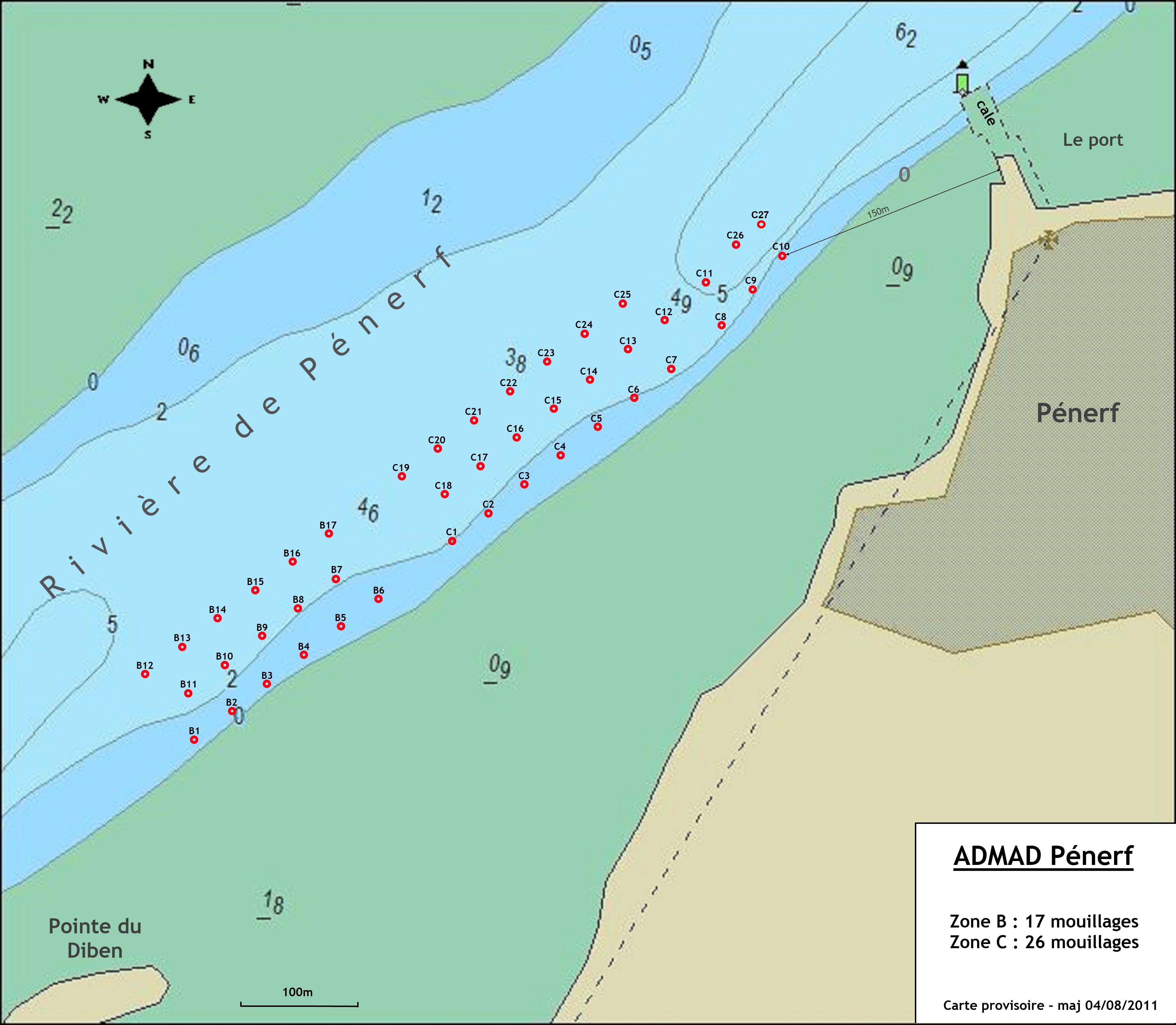 Rivière de Pénerf - Zone B & C