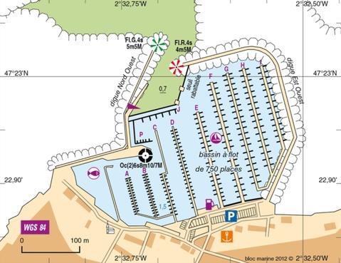 Plan du port de Piriac